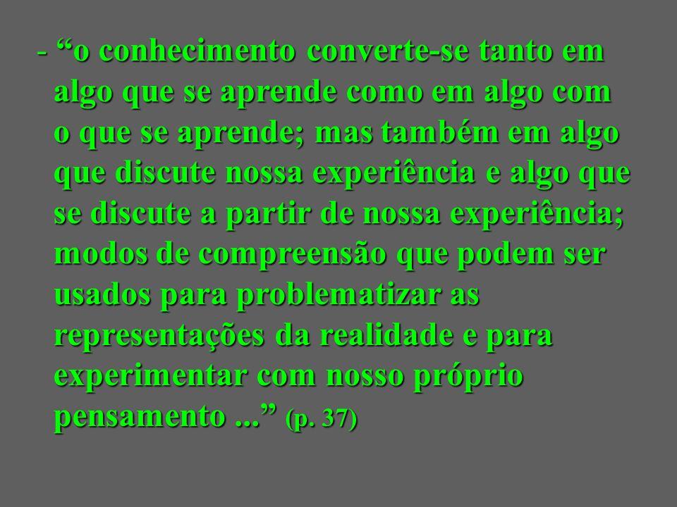 o conceito de aprendizagem é um componente prévio, um requisito indispensável para qualquer elaboração o conceito de aprendizagem é um componente prévio, um requisito indispensável para qualquer elaboração teórica sobre o ensino teórica sobre o ensino (Pérez Gómez, 1992, p.