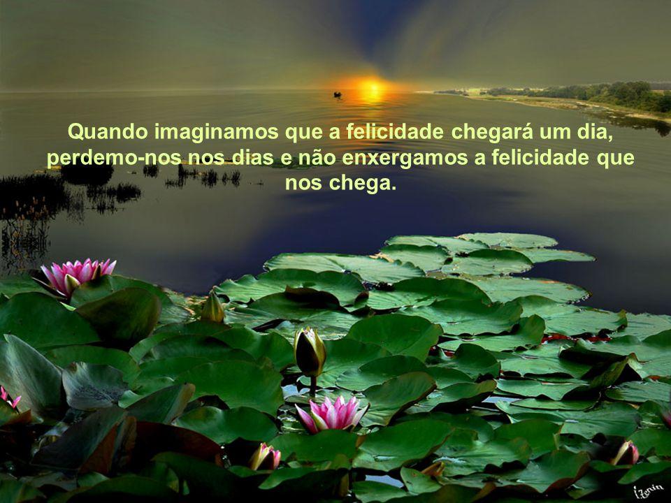 Texto Matriz Ao imaginar a felicidade como uma meta a alcançar nos esquecemos que, na verdade, a felicidade é caminho a se traçar, é trilha a se perco