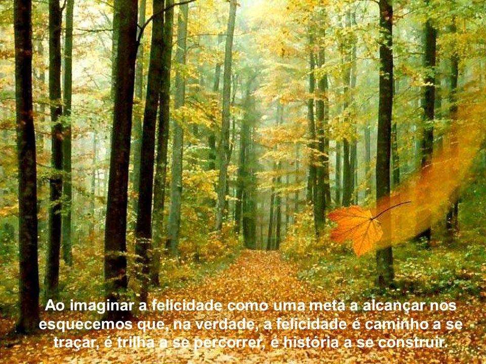 Texto Matriz Lembramos o soneto do poeta Vicente de Carvalho que afirma que a felicidade é uma árvore de dourados pomos, porém que não a alcançamos, p