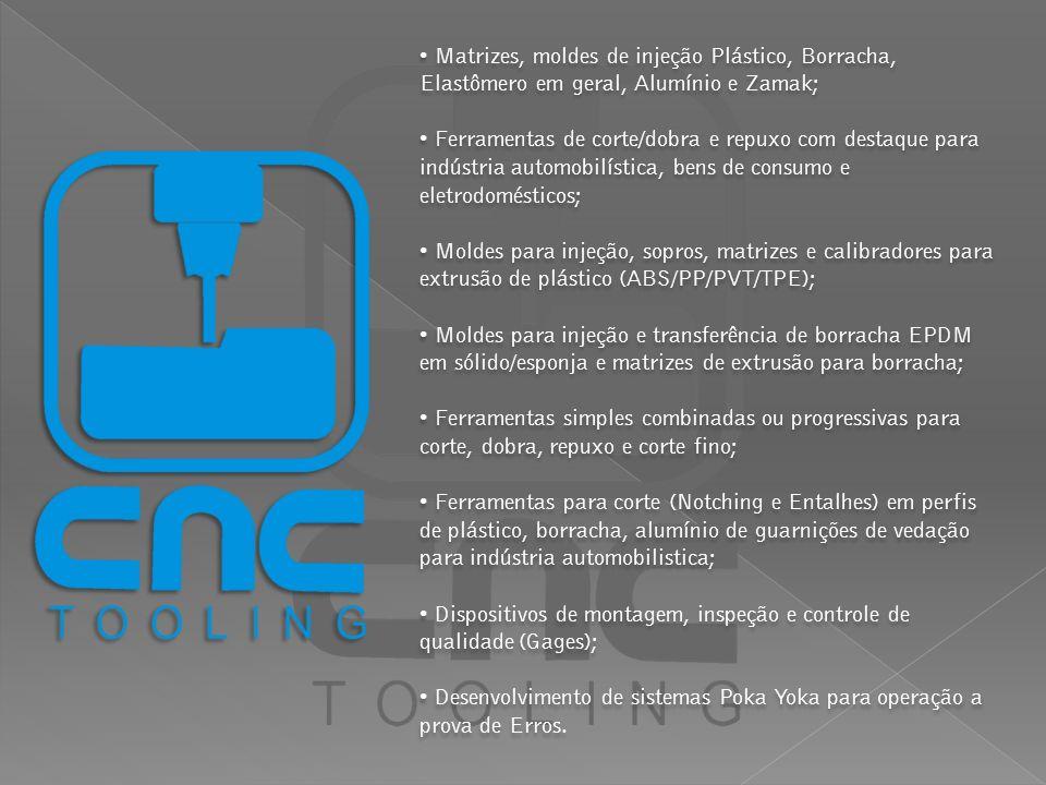 A CNC TOOLING disponibiliza aos seus clientes 3 estações instaladas com Solid Works 2010, Auto Cad versão 2010, e os mais modernos softwares de modelamento e usinagem em centro de usinagem CNC e erosão à fio, como Power Shap / Power Mill e Master Cam Wire X.