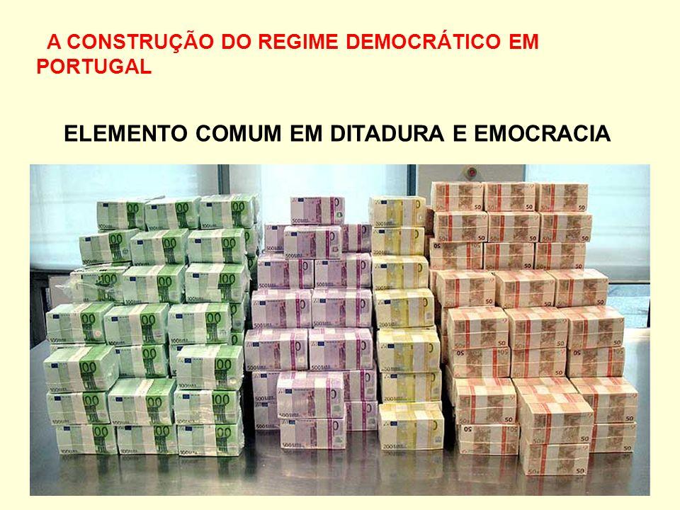 A CONSTRUÇÃO DO REGIME DEMOCRÁTICO EM PORTUGAL ELEMENTO COMUM EM DITADURA E EMOCRACIA