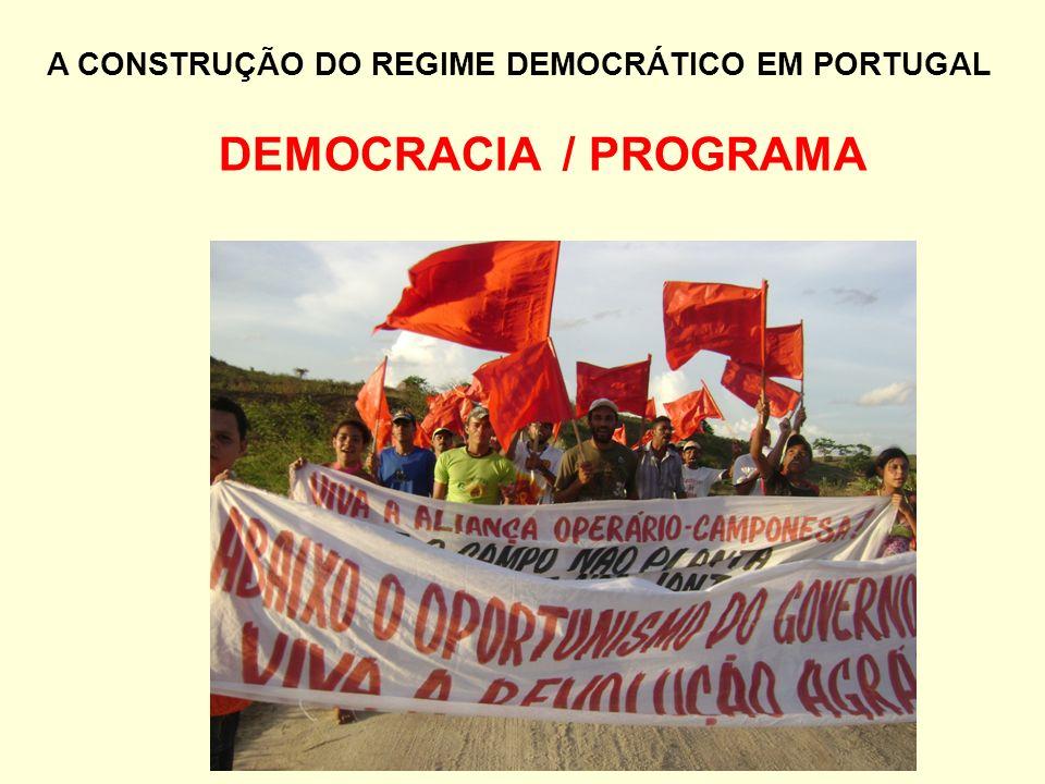 DEMOCRACIA / PROGRAMA A CONSTRUÇÃO DO REGIME DEMOCRÁTICO EM PORTUGAL