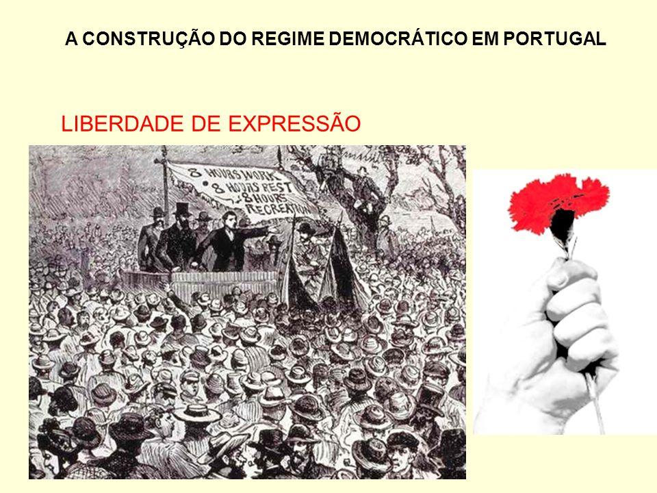 A CONSTRUÇÃO DO REGIME DEMOCRÁTICO EM PORTUGAL LIBERDADE DE EXPRESSÃO