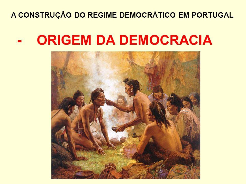 A CONSTRUÇÃO DO REGIME DEMOCRÁTICO EM PORTUGAL - ORIGEM DA DEMOCRACIA