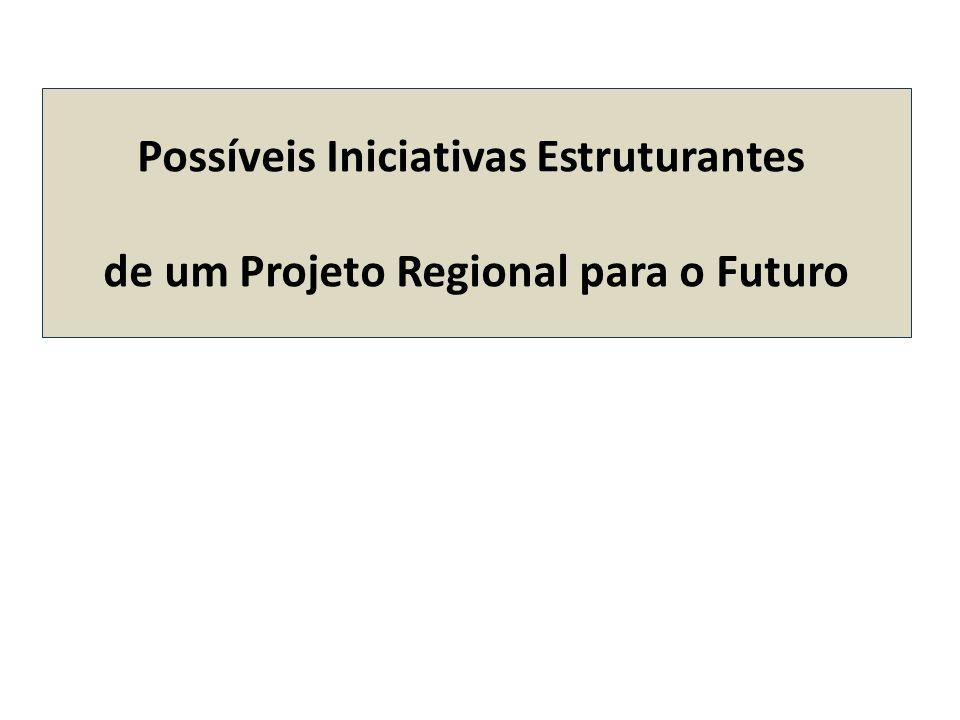 Possíveis Iniciativas Estruturantes de um Projeto Regional para o Futuro