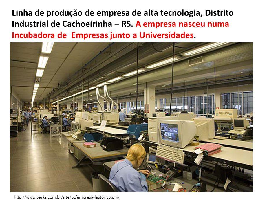 http://www.parks.com.br/site/pt/empresa-historico.php Linha de produção de empresa de alta tecnologia, Distrito Industrial de Cachoeirinha – RS. A emp