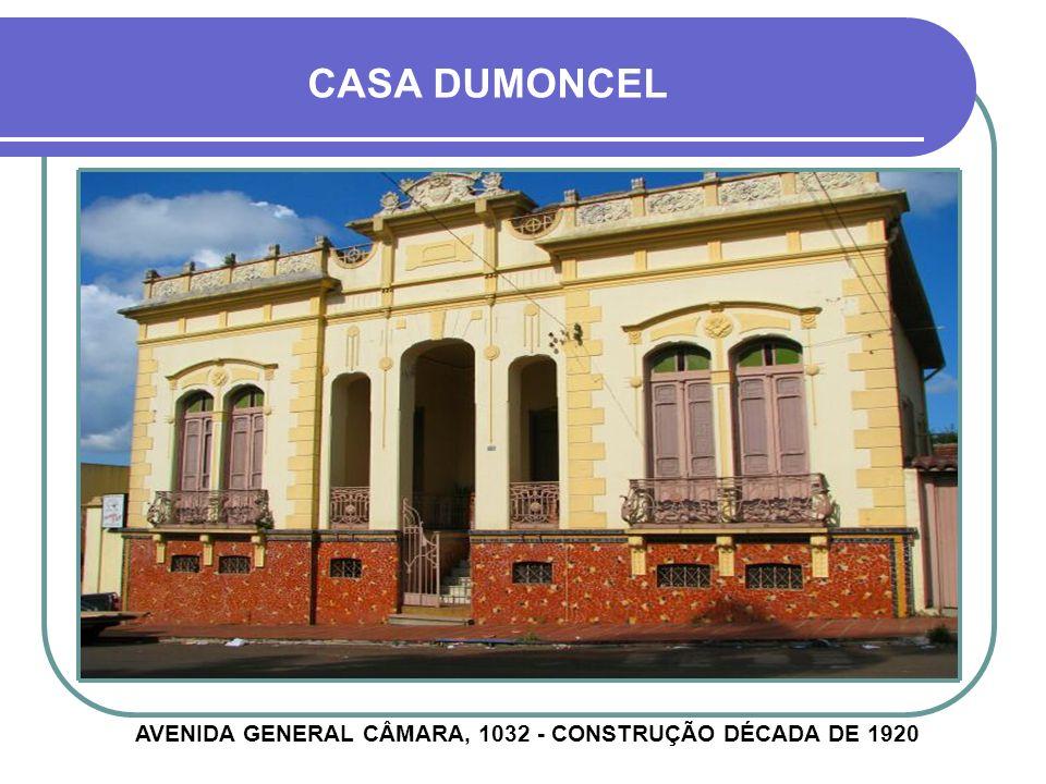 CASA DINIZ DIAS RUA PINHEIRO MACHADO, 463 - CONSTRUÇÃO 1932