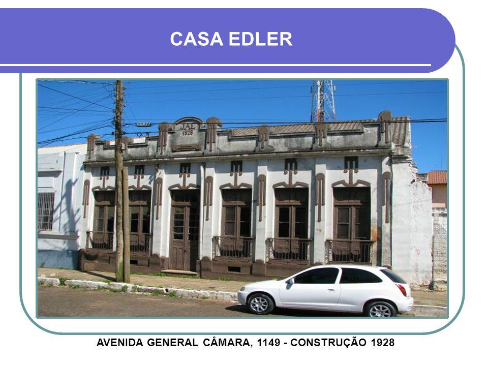 CASA DUMONCEL AVENIDA GENERAL CÂMARA, 1032 - CONSTRUÇÃO DÉCADA DE 1920