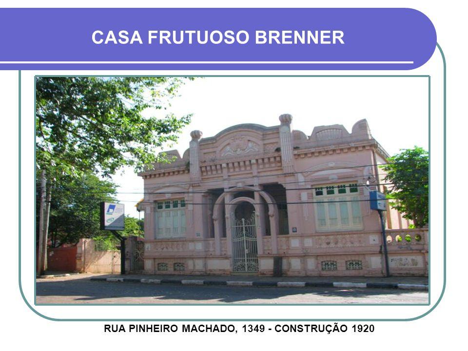 CASA FIRMINO DE PAULA FILHO RUA MARIZ E BARROS, 396 - CONSTRUÇÃO 1914