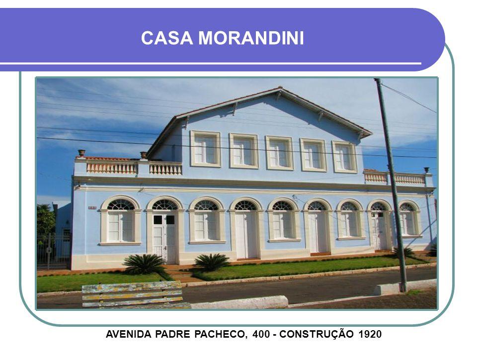 CASA FRUTUOSO BRENNER RUA PINHEIRO MACHADO, 1349 - CONSTRUÇÃO 1920