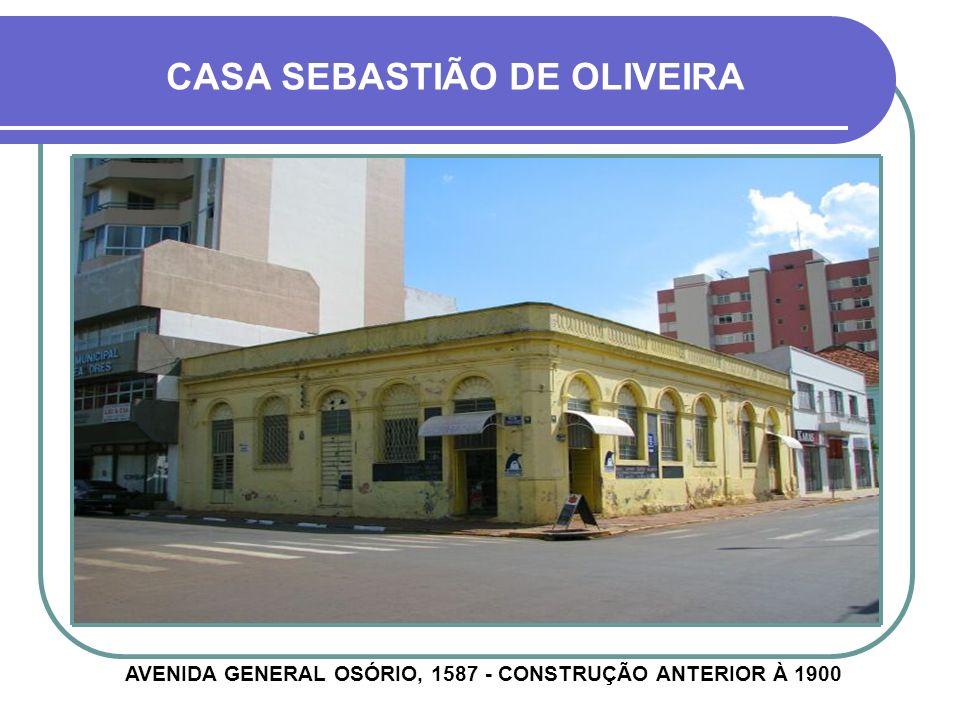 CASA SÉRGIO ROCHA RUA PINHEIRO MACHADO, 1235 - CONSTRUÇÃO ANTERIOR À 1927