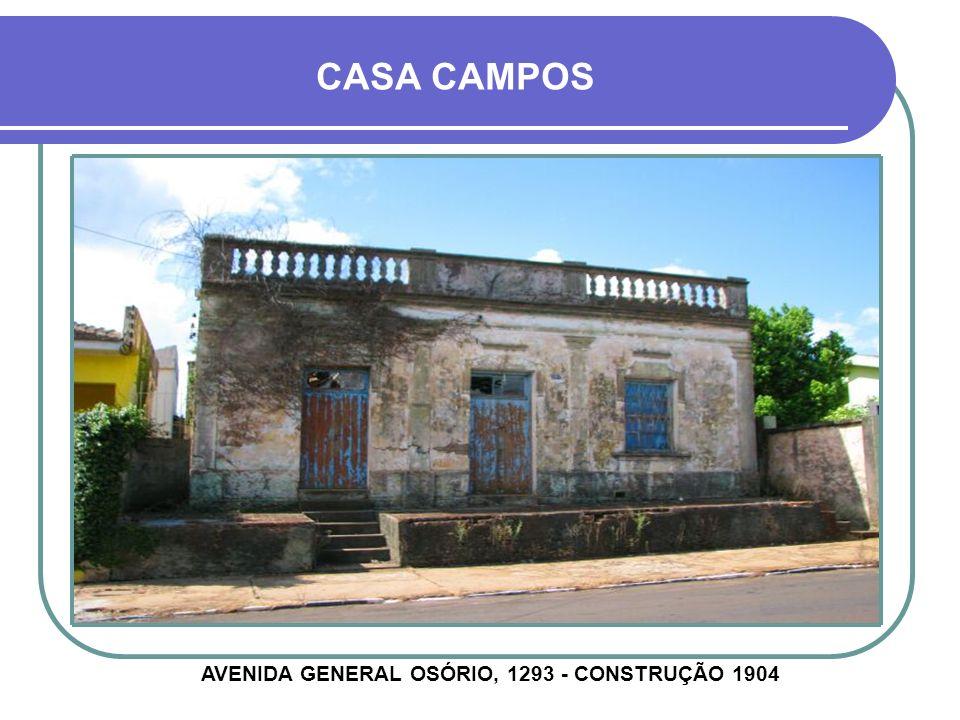 CASA ROCHA MONTENEGRO AVENIDA GENERAL CÂMARA, 1021 - CONSTRUÇÃO ANTERIOR À 1921