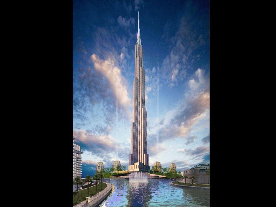 The Burj Dubai. A Construção começou em 2005 e espera-se que esteja finalizado em 2008. Com uma altura calculada de mais de 800 metros, será certament