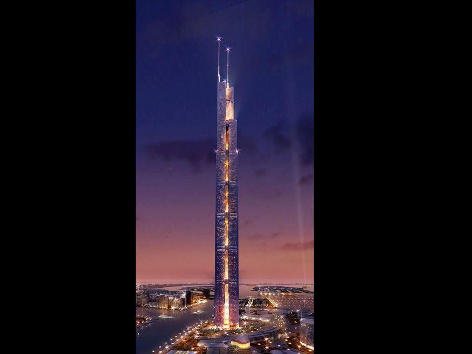 O Al Burj. Este será o centro da orla de Dubai. Depois de construído assumirá o título da estrutura mais alta no mundo do Burj Dubai.