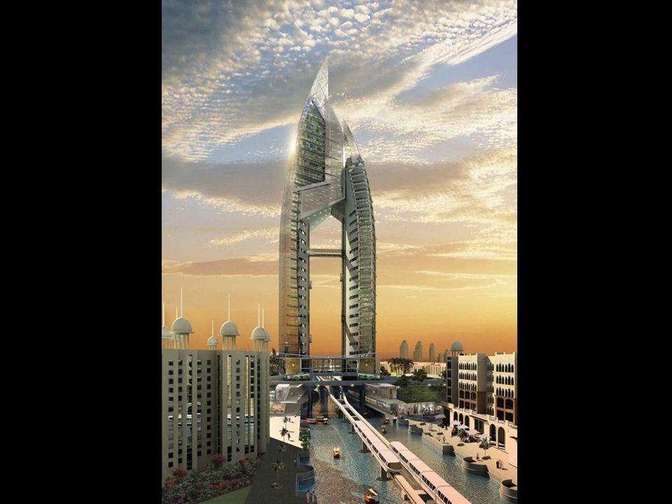 The Trump International Hotel & Tower, será o centro de uma das palmeiras, The Palm Jumeirah.