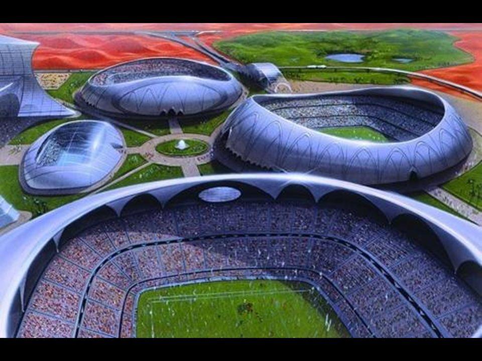Dubai Sports City. Uma coleção enorme de arenas de esporte localizada em Dubailand