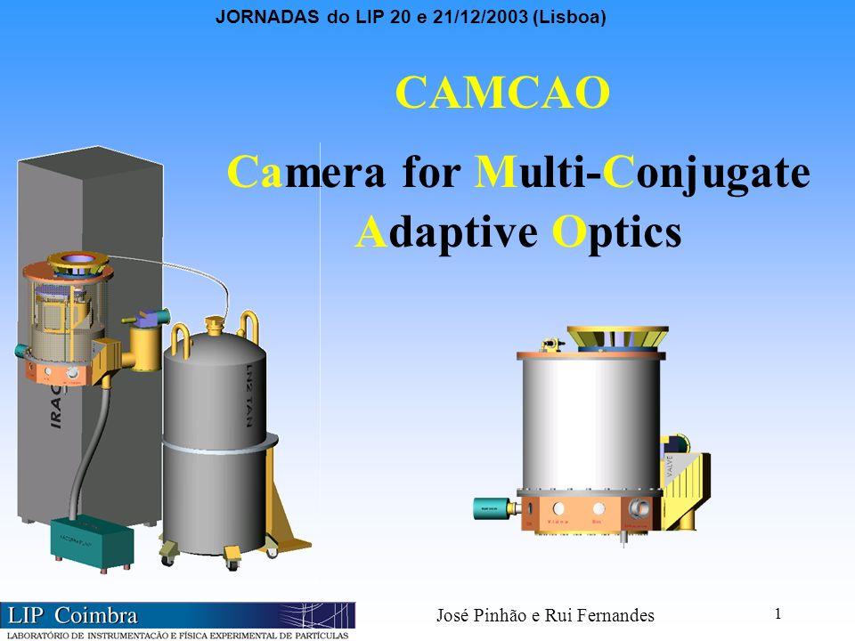 JORNADAS do LIP 20 e 21/12/2003 (Lisboa) José Pinhão e Rui Fernandes 1 CAMCAO Camera for Multi-Conjugate Adaptive Optics