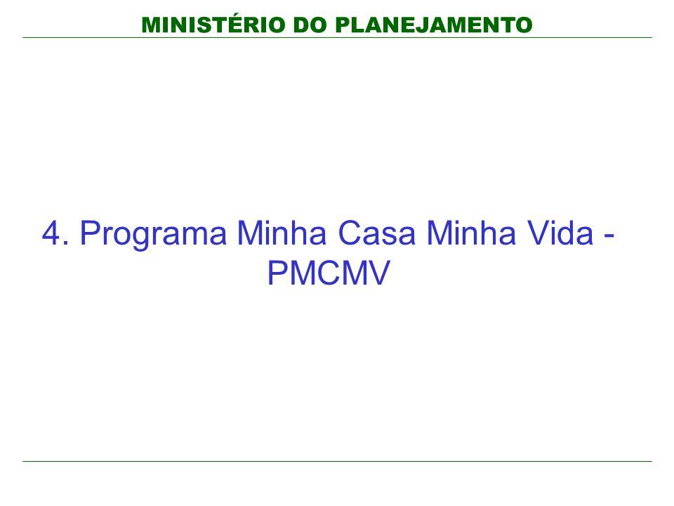 MINISTÉRIO DO PLANEJAMENTO 4. Programa Minha Casa Minha Vida - PMCMV