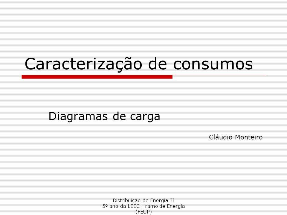 Distribuição de Energia II 5º ano da LEEC - ramo de Energia (FEUP) Caracterização de consumos Diagramas de carga Cláudio Monteiro