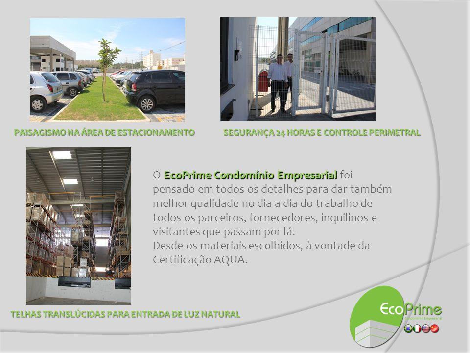 EcoPrime Condomínio Empresarial O EcoPrime Condomínio Empresarial foi pensado em todos os detalhes para dar também melhor qualidade no dia a dia do tr