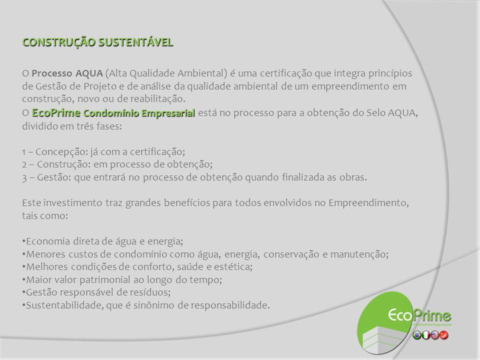 CONSTRUÇÃO SUSTENTÁVEL O Processo AQUA (Alta Qualidade Ambiental) é uma certificação que integra princípios de Gestão de Projeto e de análise da quali