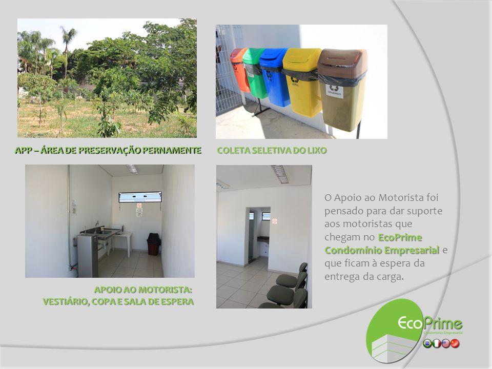 EcoPrime Condomínio Empresarial O EcoPrime Condomínio Empresarial foi pensado em todos os detalhes para dar também melhor qualidade no dia a dia do trabalho de todos os parceiros, fornecedores, inquilinos e visitantes que passam por lá.