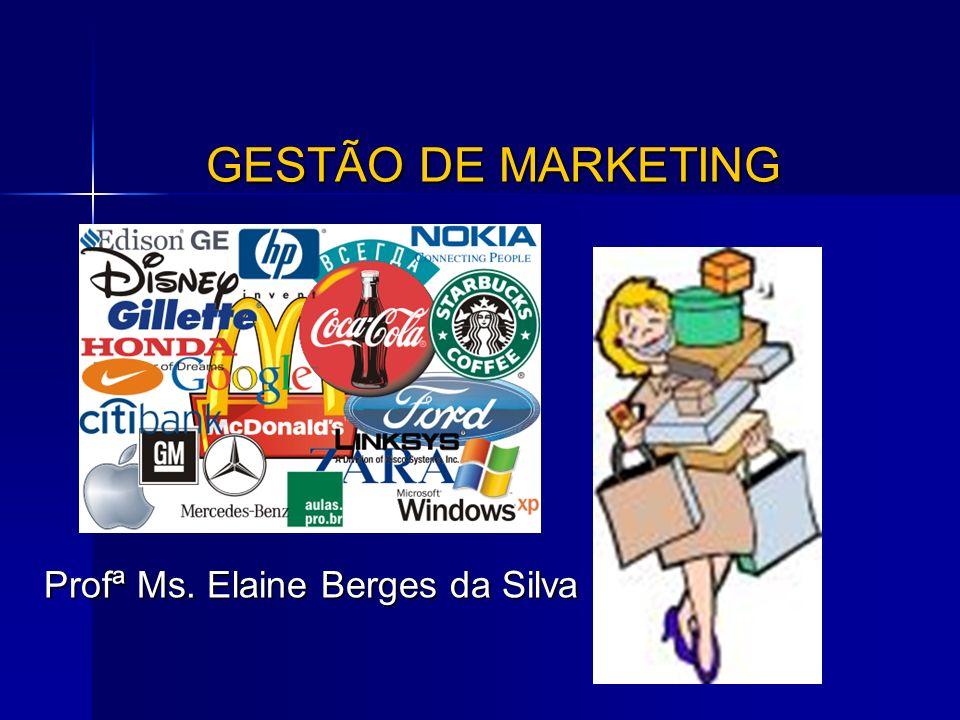 GESTÃO DE MARKETING Profª Ms. Elaine Berges da Silva