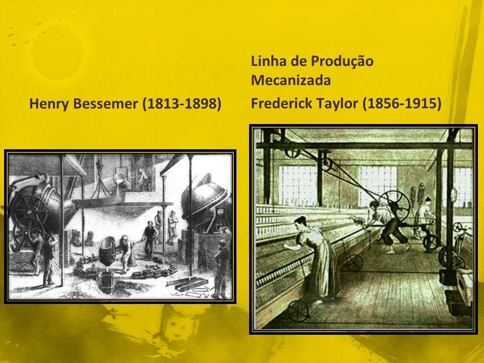 Henry Bessemer (1813-1898) Linha de Produção Mecanizada Frederick Taylor (1856-1915)