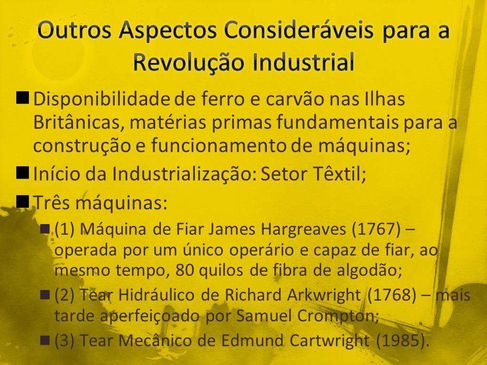 James Hargreaves (1767)Edmund Cartwright (1785)