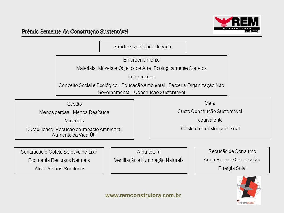 www.remconstrutora.com.br Saúde e Qualidade de Vida