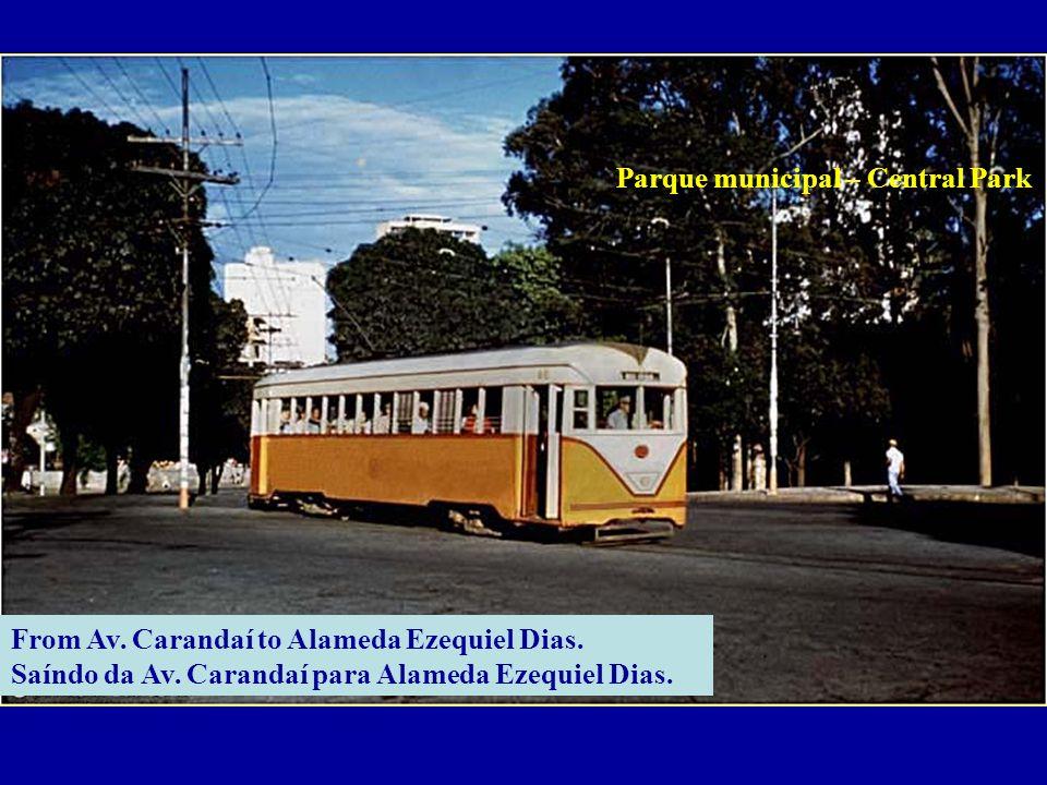 From Av.Carandaí to Alameda Ezequiel Dias. Saíndo da Av.