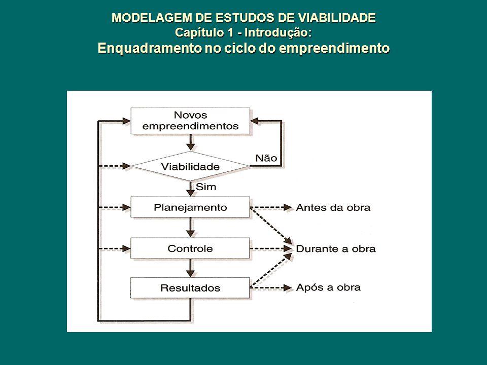 MODELAGEM DE ESTUDOS DE VIABILIDADE Capítulo 1 - Introdução: Enquadramento no ciclo do empreendimento