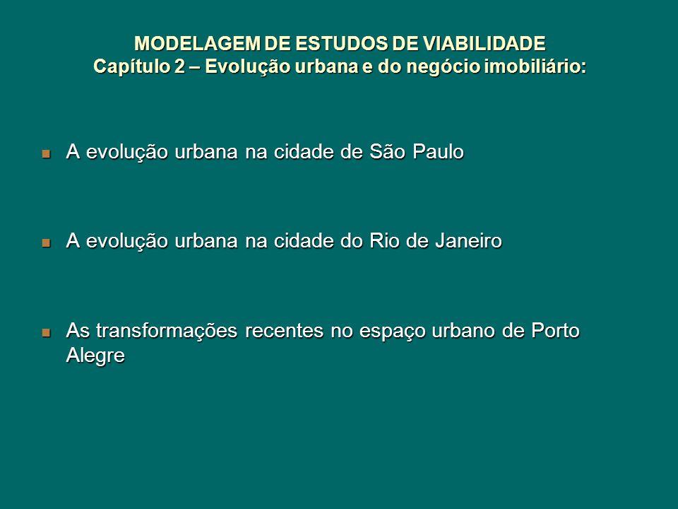 MODELAGEM DE ESTUDOS DE VIABILIDADE Capítulo 2 – Evolução urbana e do negócio imobiliário: A evolução urbana na cidade de São Paulo A evolução urbana