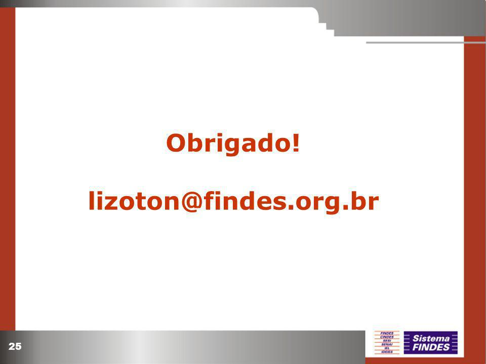 25 Obrigado! lizoton@findes.org.br
