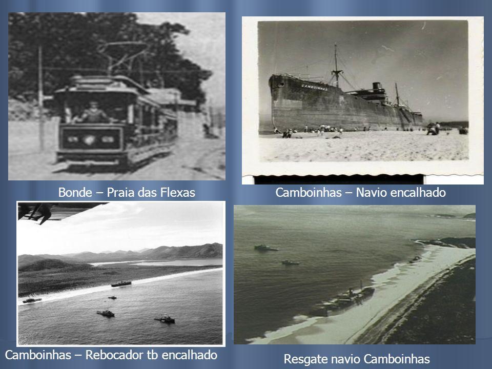 Praia de IcaraíBarca – Frota Carioca Corpo de Bombeiros Bonde – Ponto Cem Réis