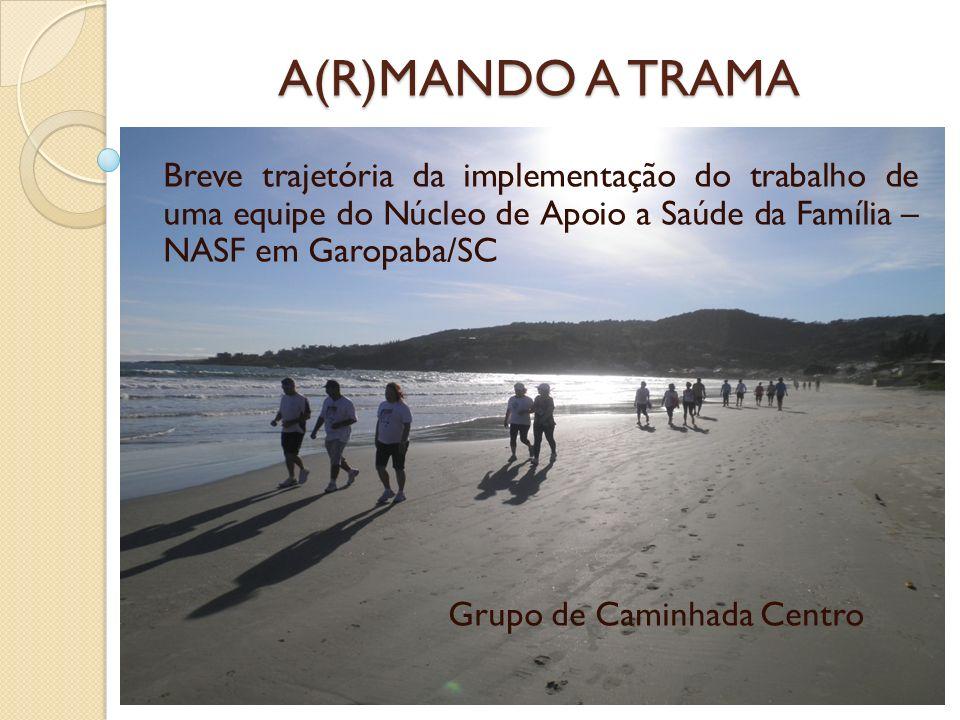 A(R)MANDO A TRAMA Breve trajetória da implementação do trabalho de uma equipe do Núcleo de Apoio a Saúde da Família – NASF em Garopaba/SC Grupo de Cam