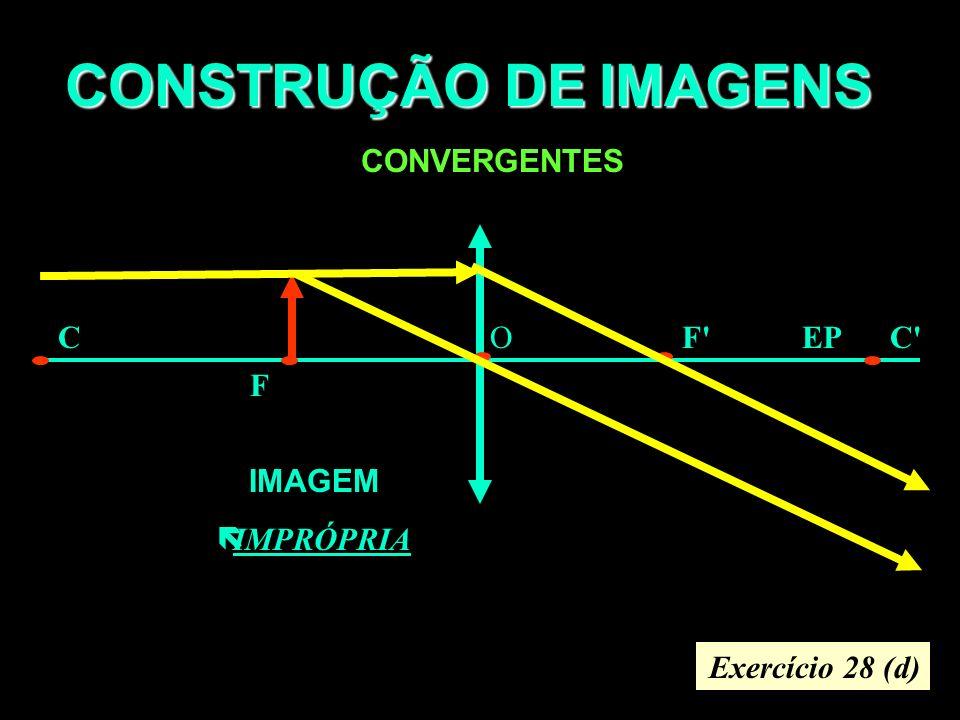 CONSTRUÇÃO DE IMAGENS CONVERGENTES F F CC OEP IMAGEM ëIMPRÓPRIA Exercício 28 (d)