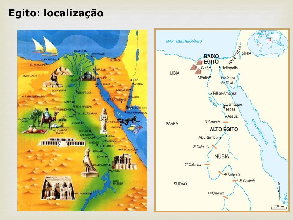 Economia Agricultura favorecida pelo quadro natural do território Vale do Nilo.
