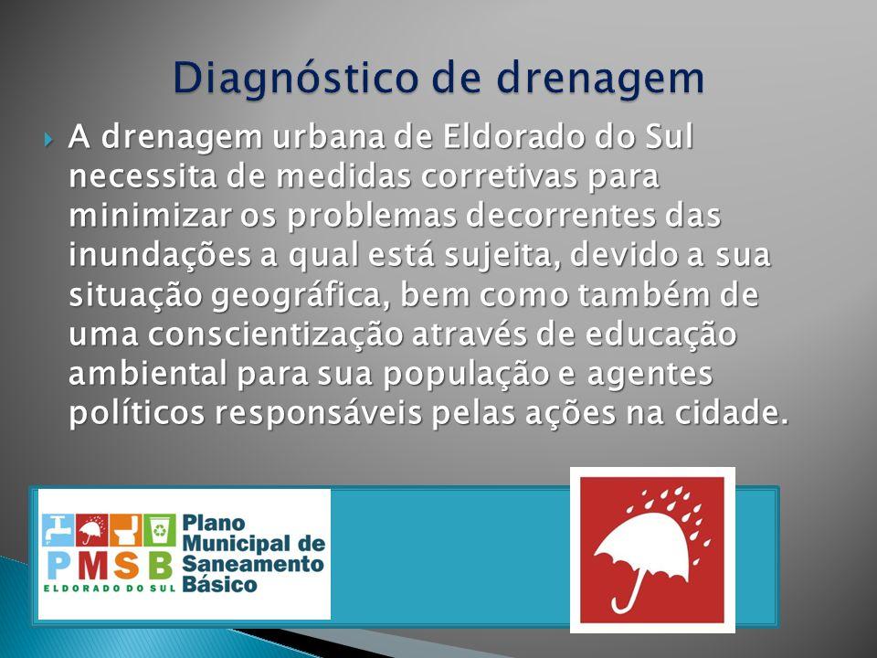 A drenagem urbana de Eldorado do Sul necessita de medidas corretivas para minimizar os problemas decorrentes das inundações a qual está sujeita, devid