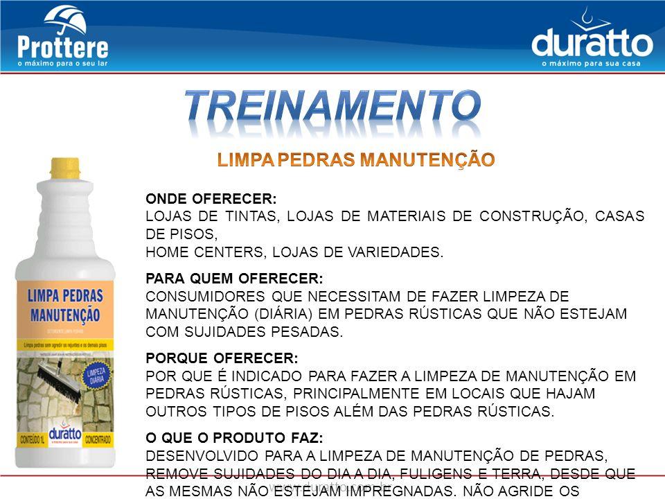 www.duratto.com.br ONDE OFERECER: LOJAS DE TINTAS, LOJAS DE MATERIAIS DE CONSTRUÇÃO, CASAS DE PISOS, HOME CENTERS, LOJAS DE VARIEDADES. PARA QUEM OFER