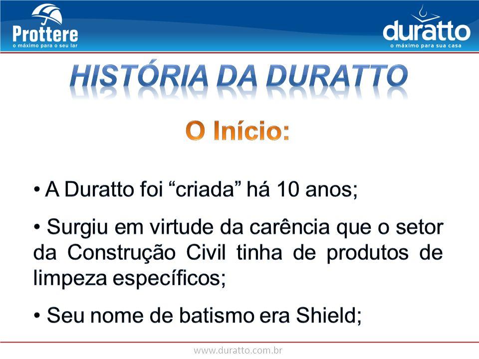 www.duratto.com.br AMOSTRAS EM SACHÊ CANETA DURATTO