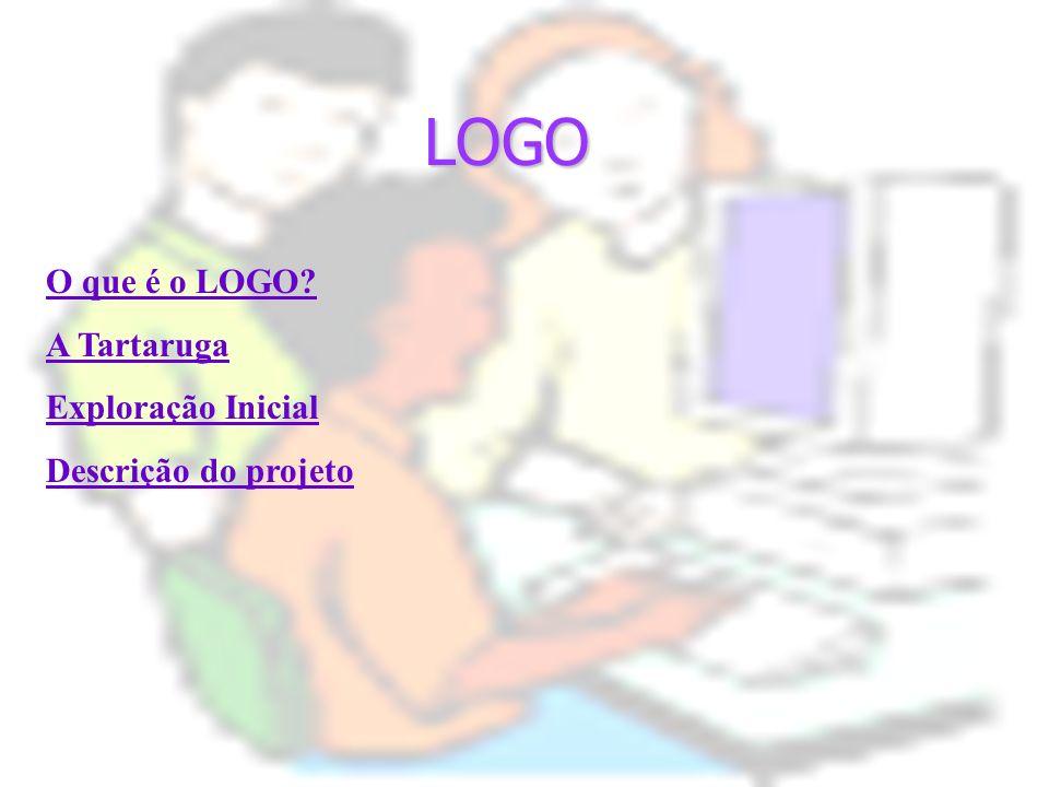LOGO O que é o LOGO? A Tartaruga Exploração Inicial Descrição do projeto