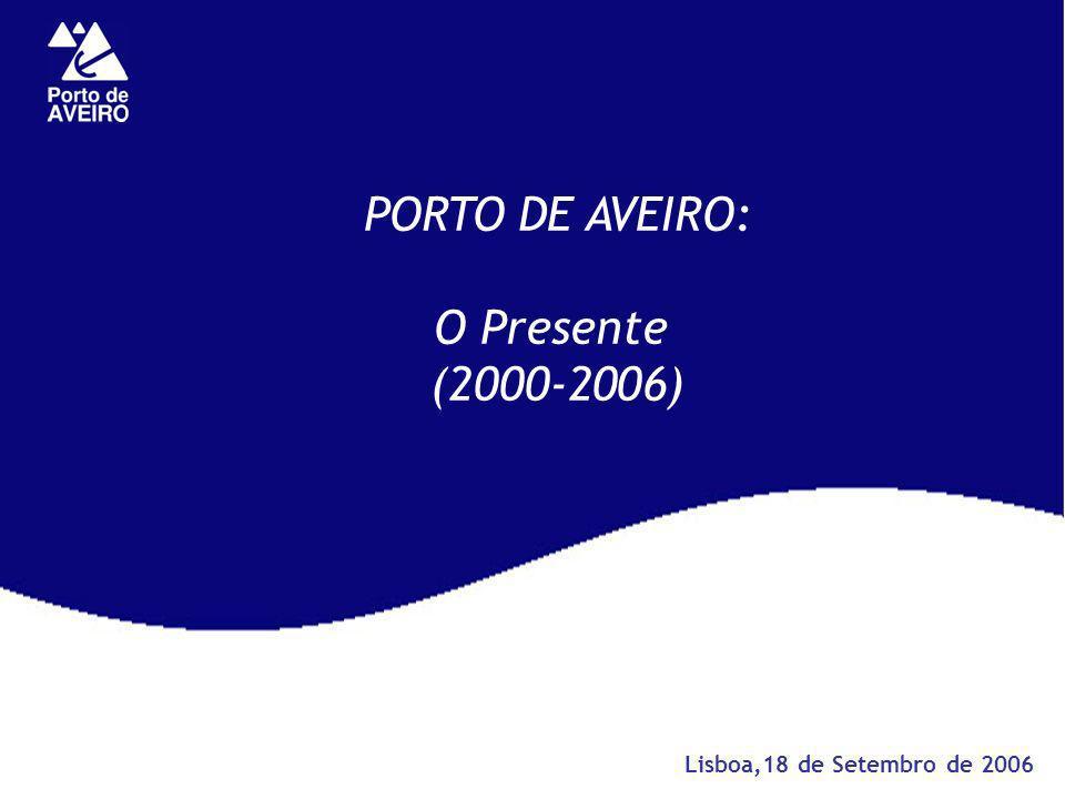 PORTO DE AVEIRO: O Presente (2000-2006) Lisboa,18 de Setembro de 2006