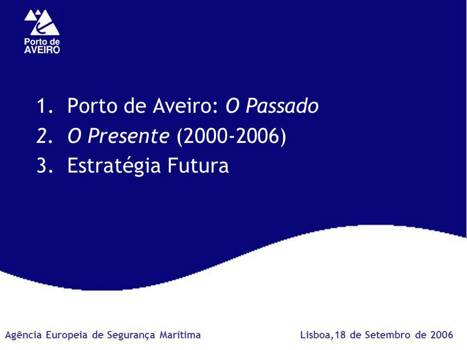 1.Porto de Aveiro: O Passado 2.O Presente (2000-2006) 3.Estratégia Futura Agência Europeia de Segurança MarítimaLisboa,18 de Setembro de 2006