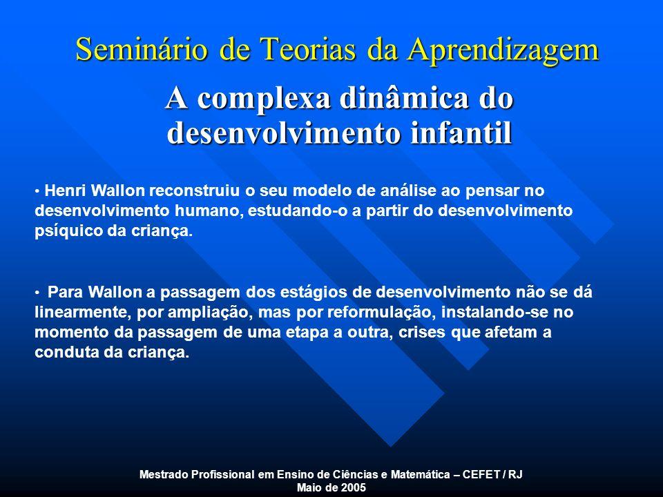 Seminário de Teorias da Aprendizagem A inteligência II.