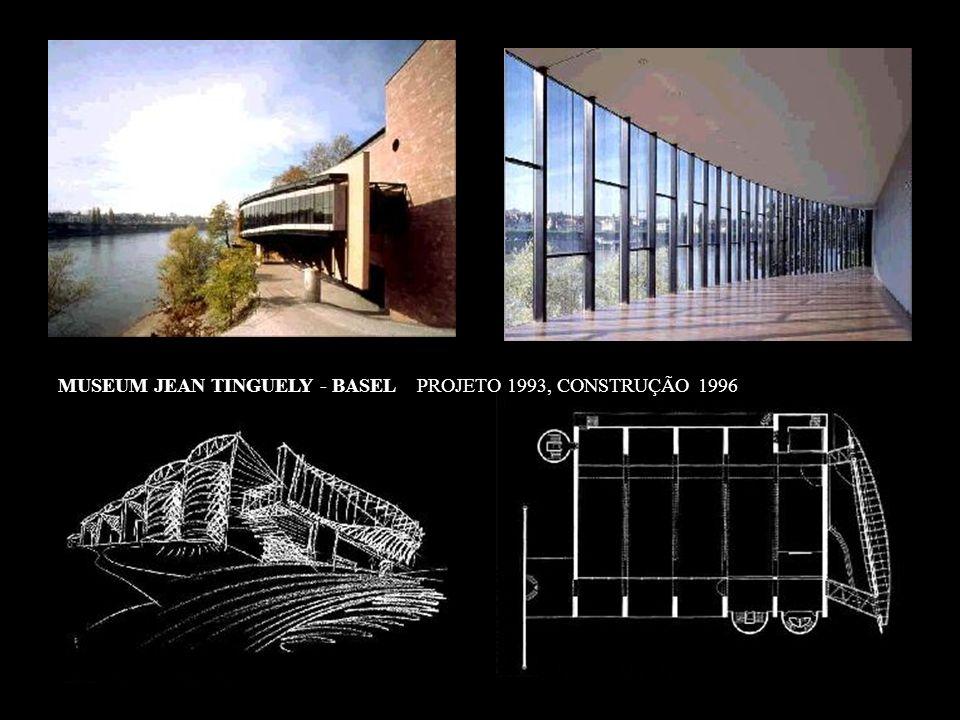 MUSEUM JEAN TINGUELY - BASEL PROJETO 1993, CONSTRUÇÃO 1996