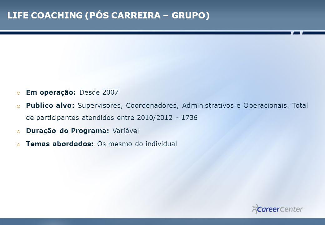 COCAHING DE HERDEIROS o Em operação: Desde 2009 o Público alvo: Herdeiros de diferentes gerações de grupos empresariais brasileiros de diversos segmentos.