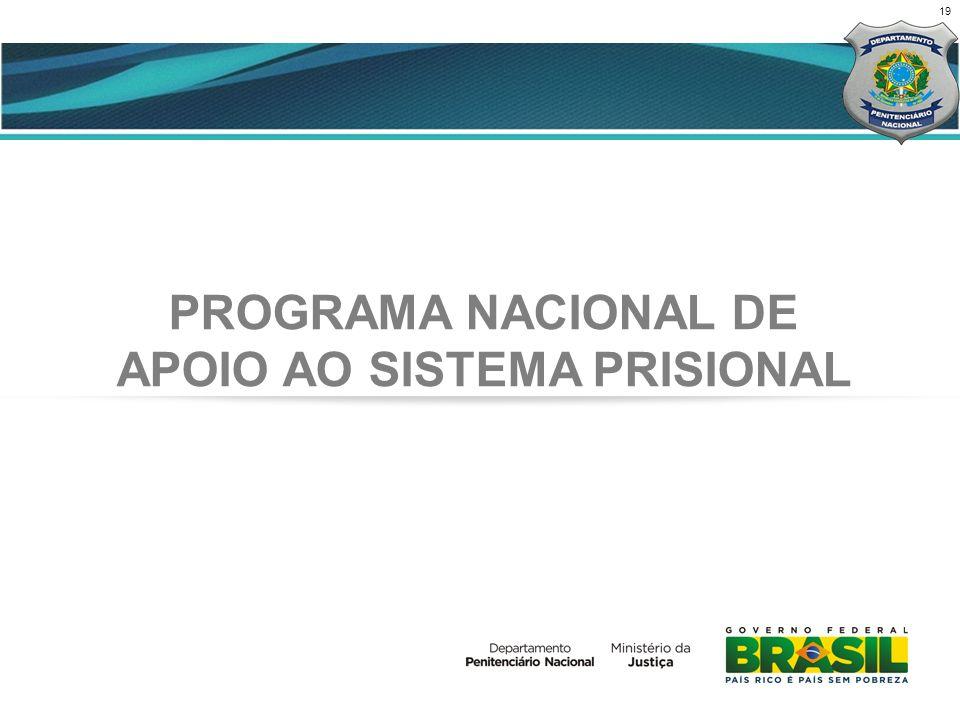19 PROGRAMA NACIONAL DE APOIO AO SISTEMA PRISIONAL