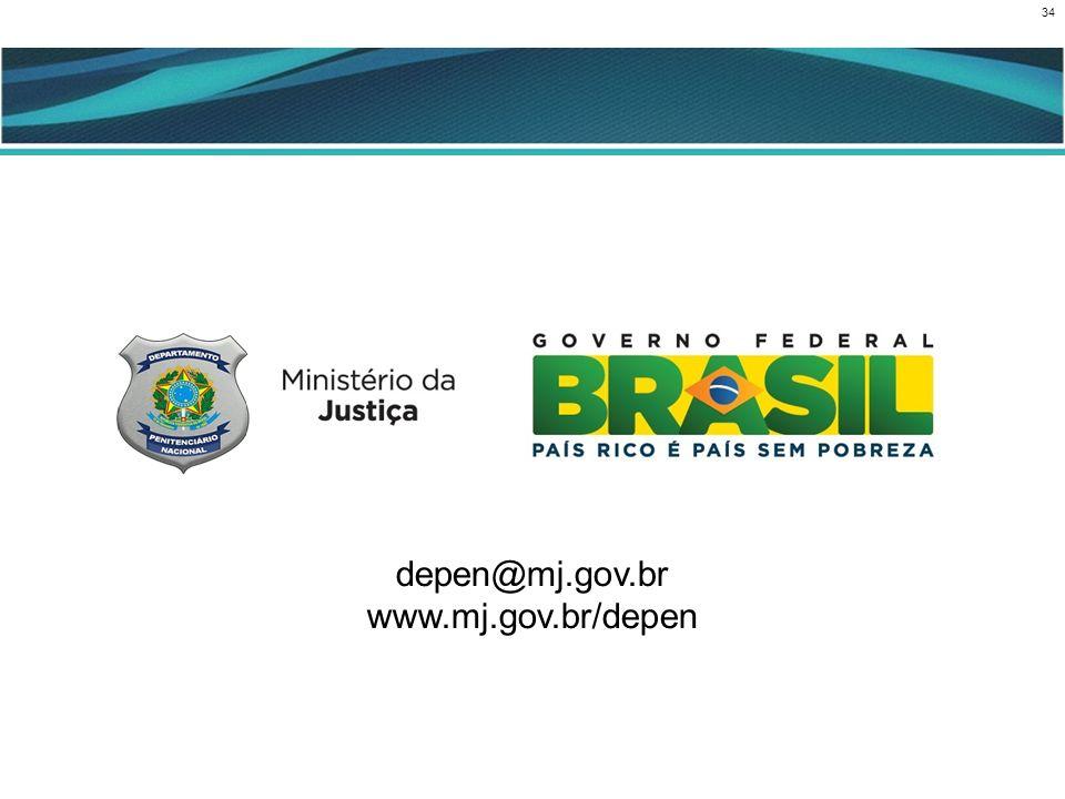 34 CENÁRIO ATUAL depen@mj.gov.br www.mj.gov.br/depen