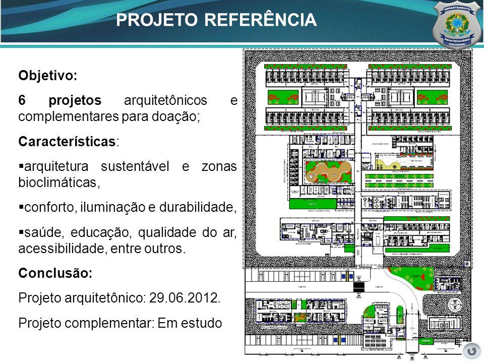 39 PROJETO REFERÊNCIA 39 Objetivo: 6 projetos arquitetônicos e complementares para doação; Características: arquitetura sustentável e zonas bioclimáti